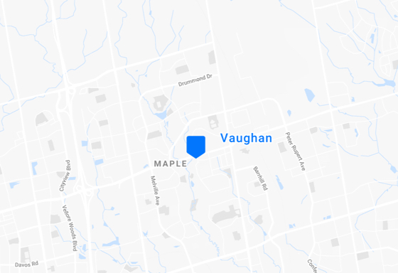 Location of Vaughan Office